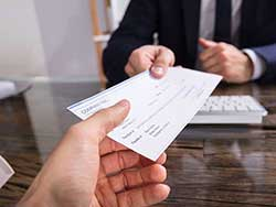 Employee Receiving Wages from Employer